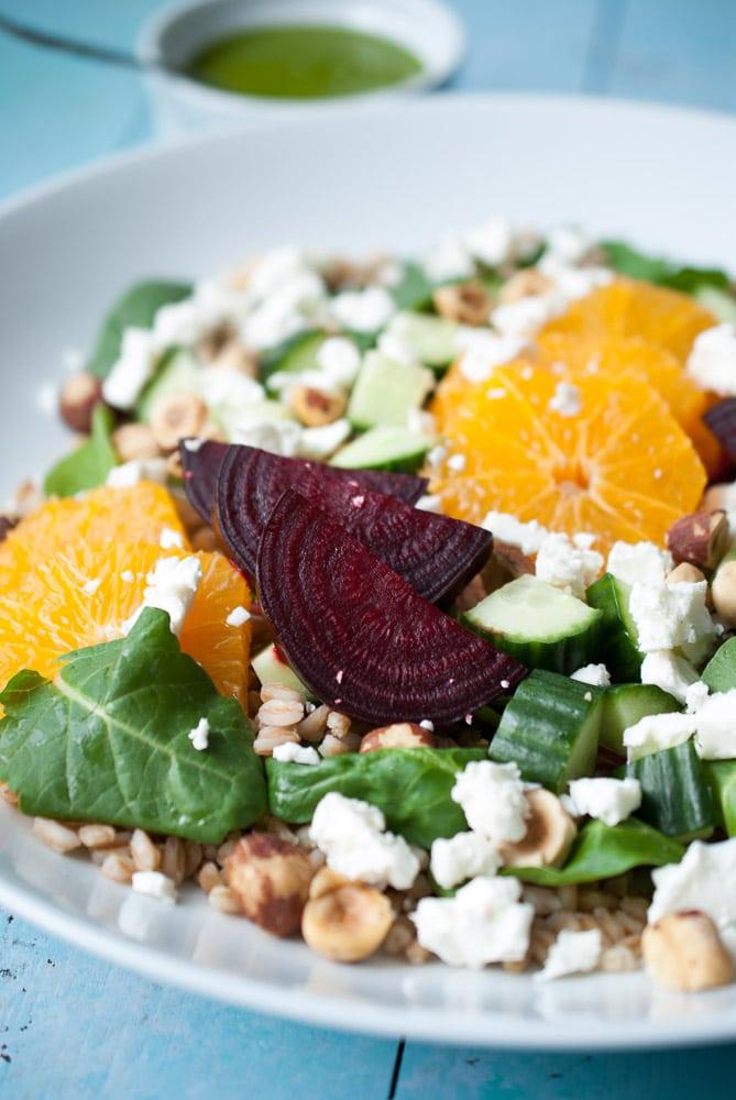 Farro, Roasted Beet, & Citrus Salad-3