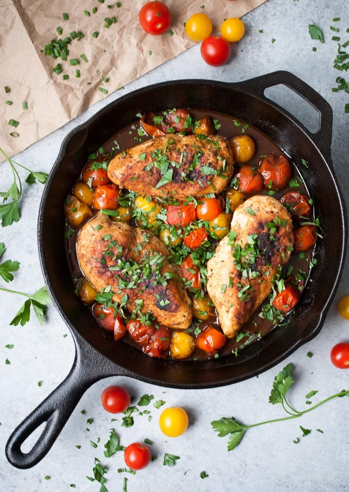 Balsamic Mustard Chicken with Cherry Tomatoes_-5