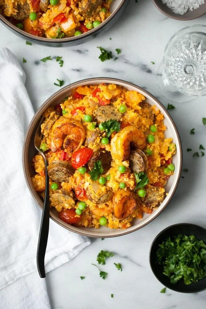 Cauliflower Rice Paella-5