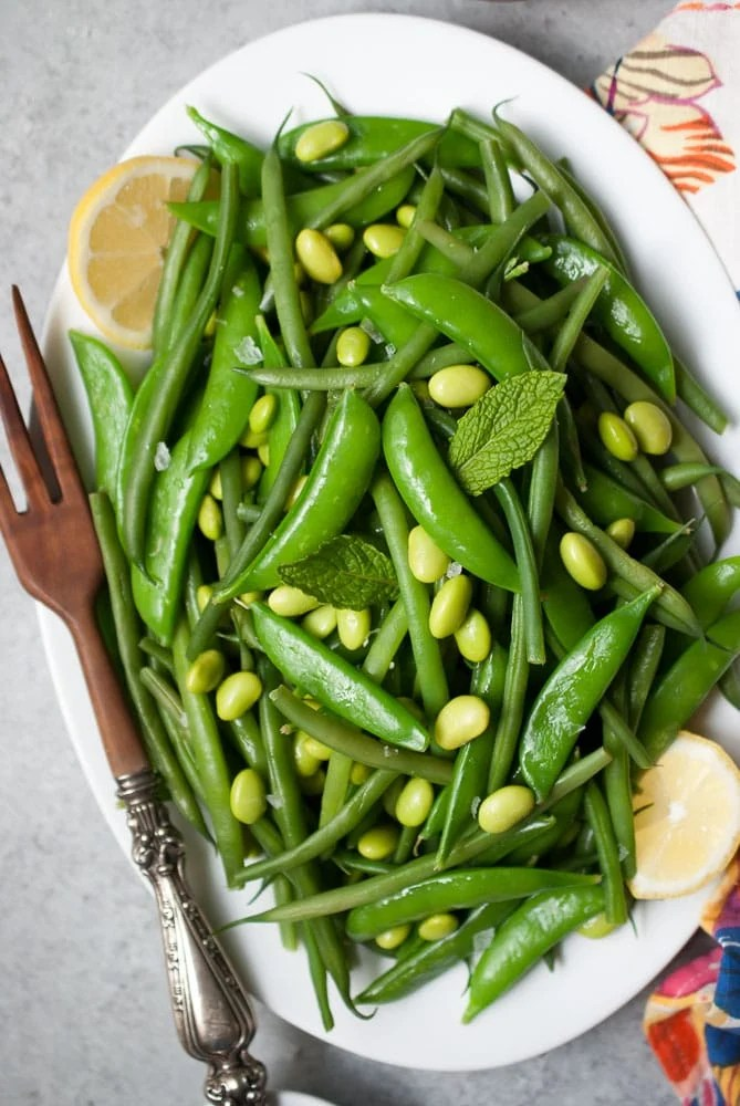 Simple Snap Pea & Green Bean Salad-4