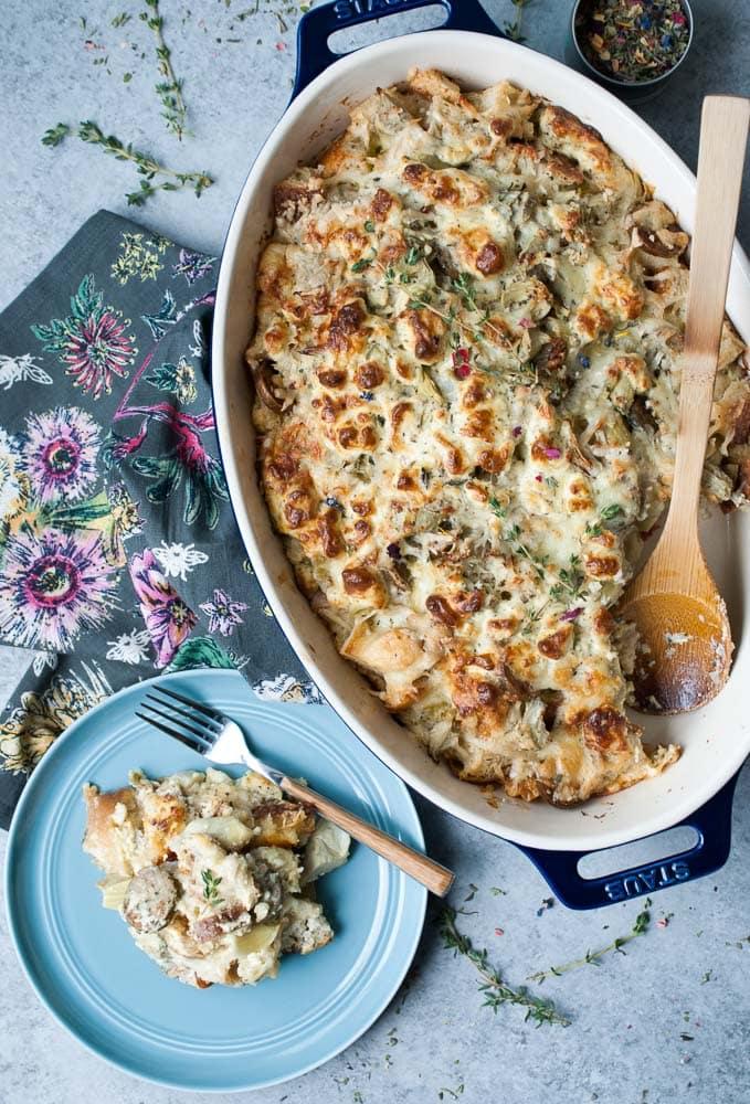 Artichoke & Goat Cheese Breakfast Bake-6