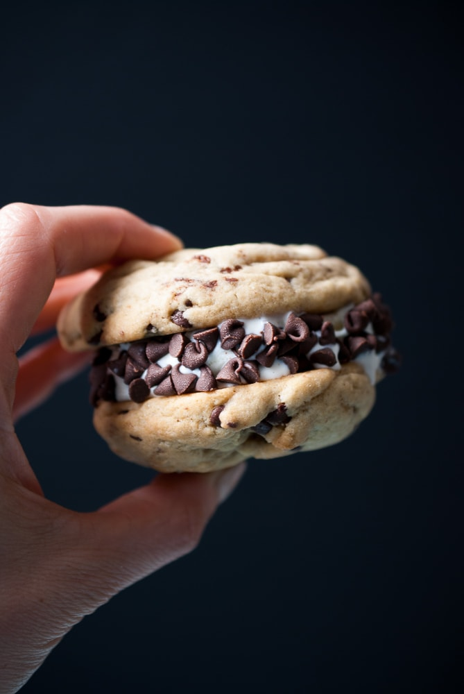 Chocolate Chip Ice Cream Cookie Sandwiches_-5
