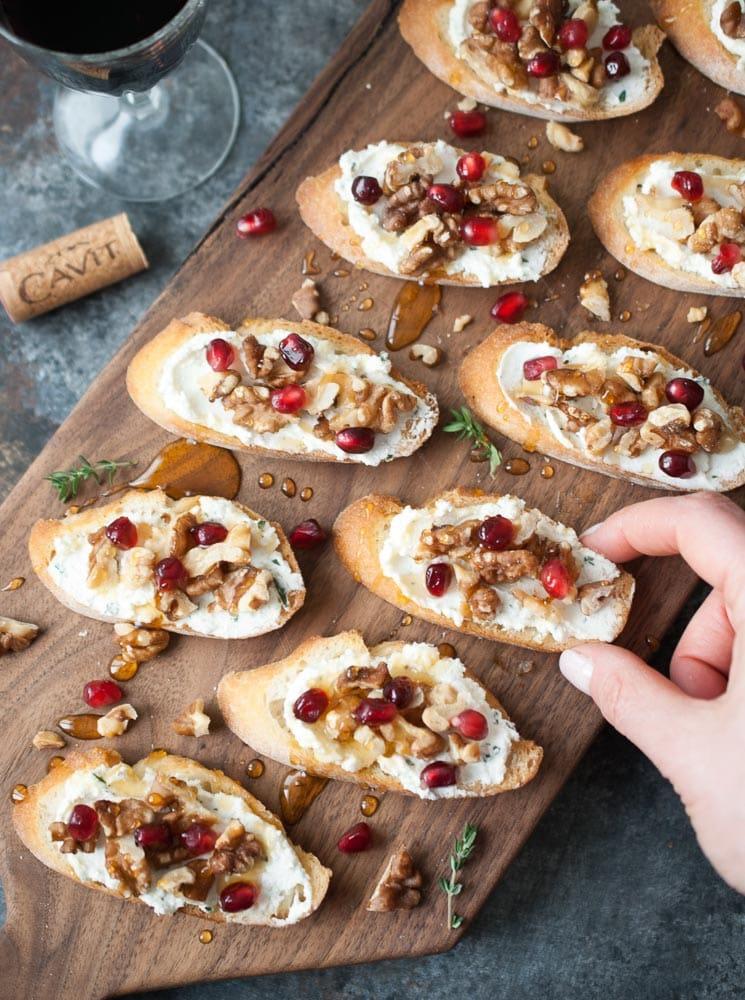 Goat Cheese & Walnut Crostini