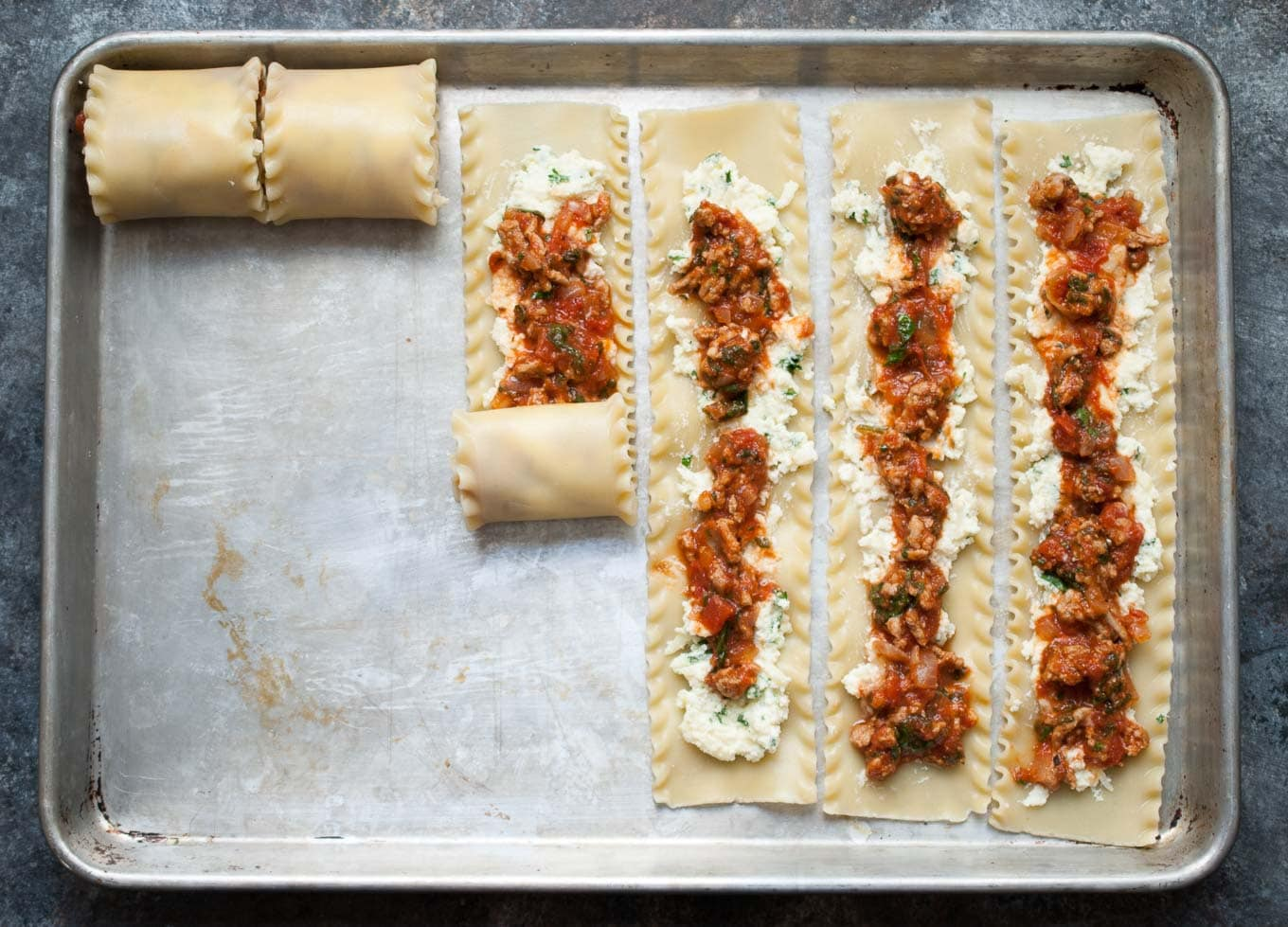 Turkey Spinach Lasagna Roll Ups
