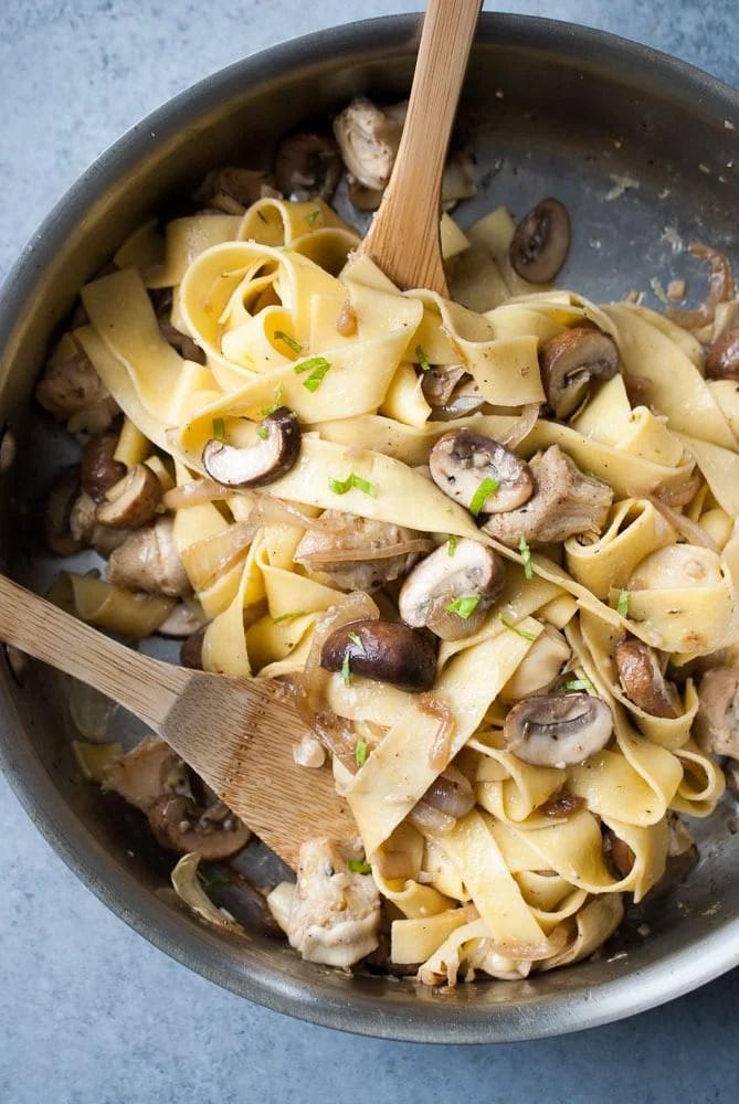 Grilled Artichoke & Mushroom Lemon Pasta