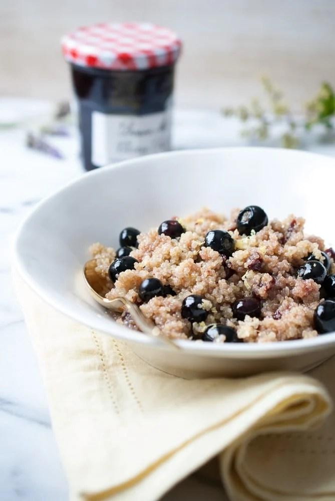 Coconut Cherry Blueberry Quinoa