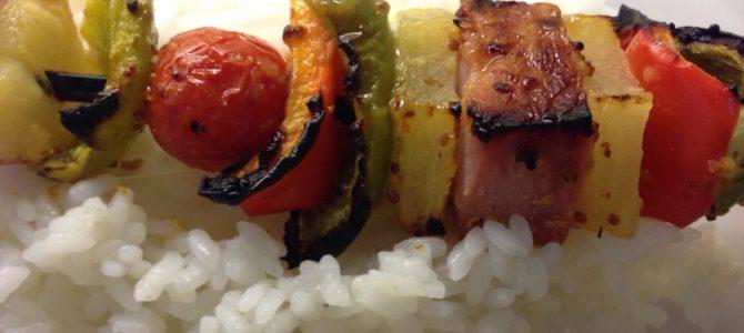 Hawaiian kabobs for Dinner  #Dinnerin15