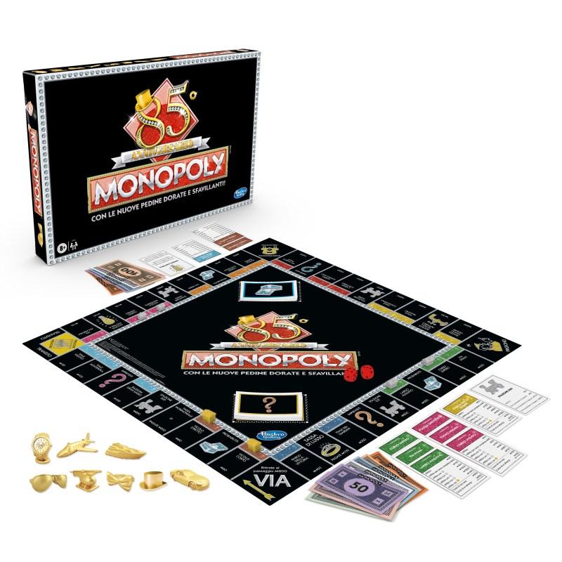 Monopoly 85° Anniversario Versione Luxury con le pedine dorate e sfavillanti