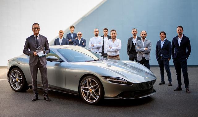 La #ferrari #roma si è imposta nella categoria Production Cars dei prestigiosi Car #design Award