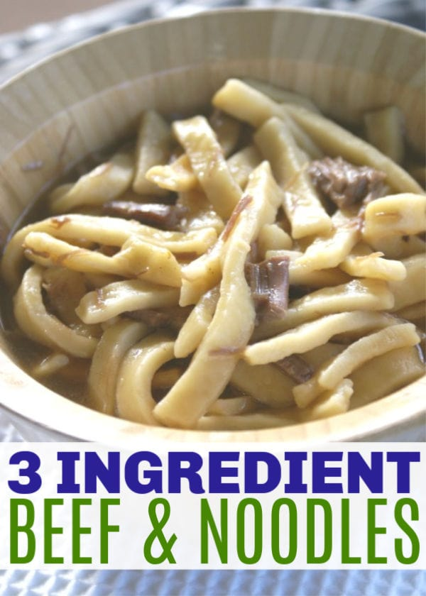easy three ingredient beef and noodles
