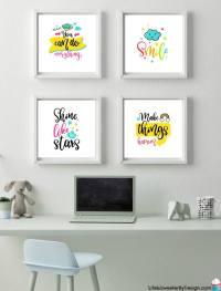 Printable Wall Art for a Little Girl's Room