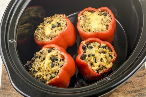 how to make slow cooker stuffed peppers