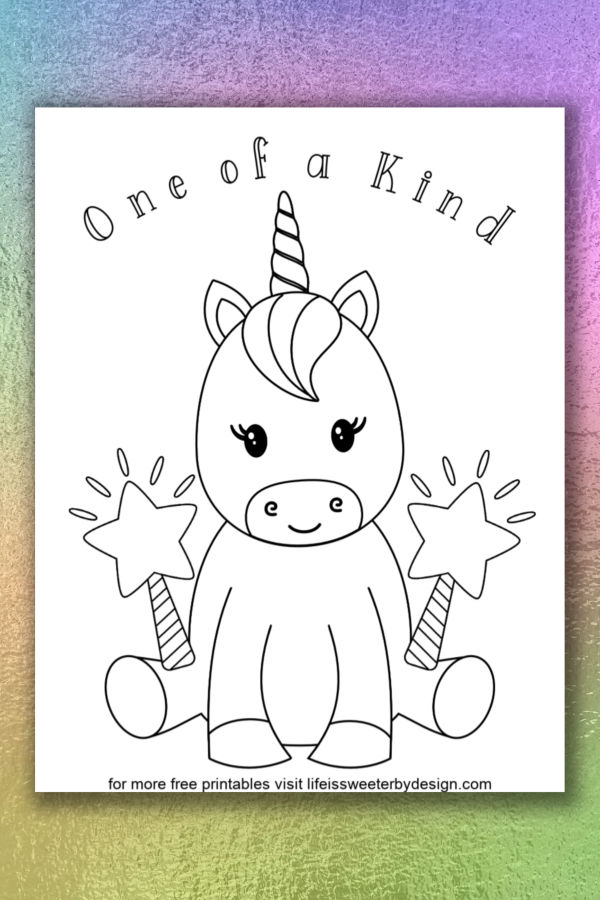 Unicorn Coloring Pages Life Is Sweeter By Design