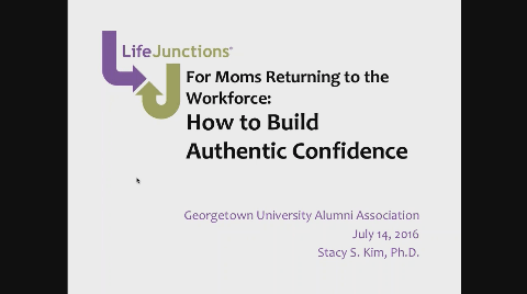 how moms returning to the workforce can build authentic confidence