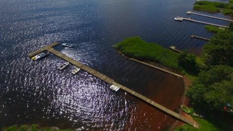 Sunds Sø tæt ved Herning fotograferet med en drone