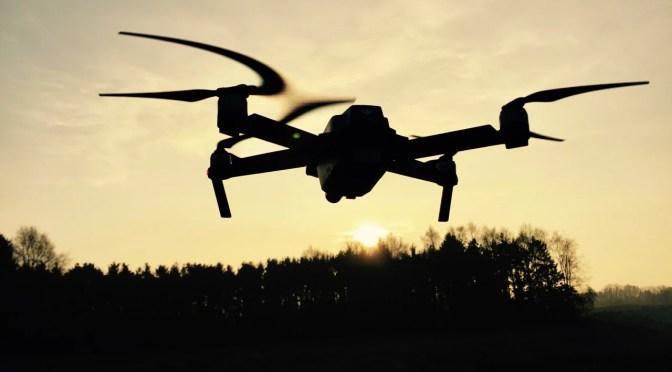 Drone ved solopgang i Sorø