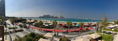 Udsigten over Dubai Beach