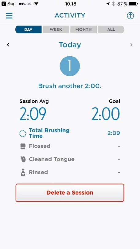 Oral-B tandbørste app