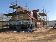Murene bygges op på nyt hus