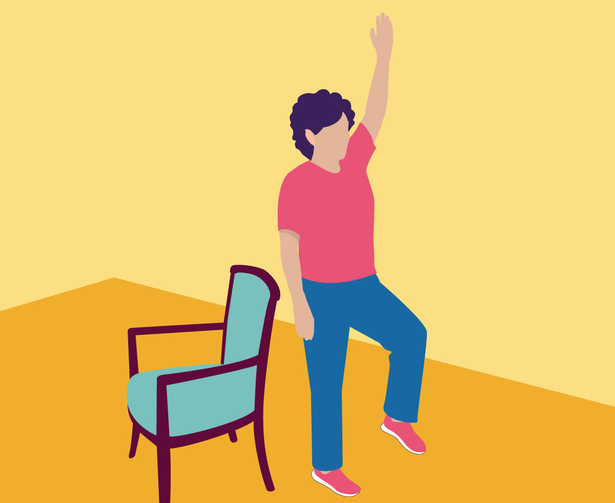 chair sit to stand exercise for beauty parlour 14 exercises seniors improve strength and balance philips 6 single limb stance with arm