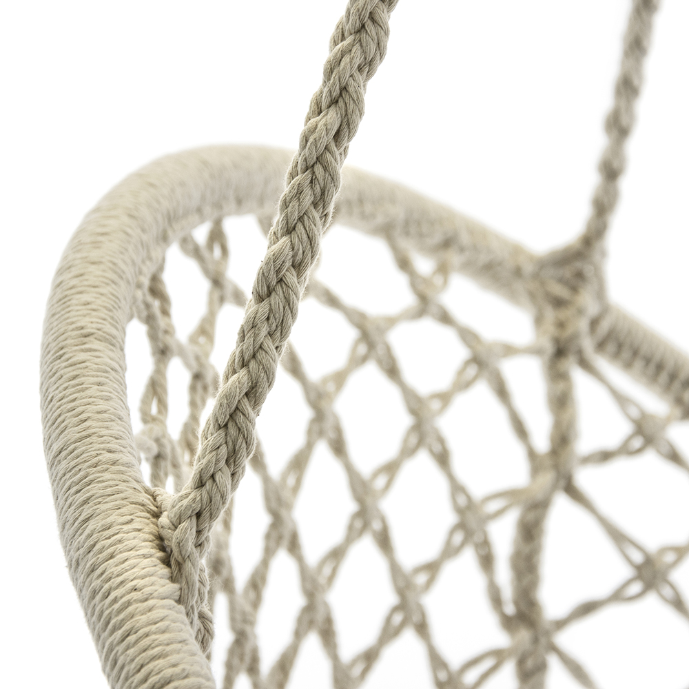 hanging chair rope high quality directors chairs gabi natural close up of the detail in boho macrame