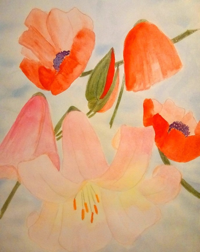 """Blooms"" (watercolor) - Negotiable"