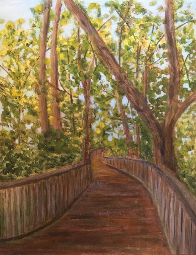 """Boardwalk"" (acrylic), $40.00"