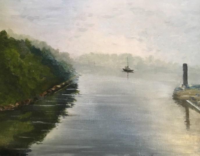 """""""Early Morning Fog"""" (acrylic), NFS"""