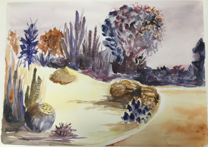 """Desert Garden"" (watercolor), NFS"