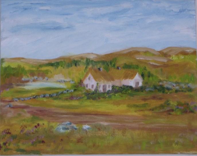Connemara Quiet (oil on canvas, 8x10) - $200