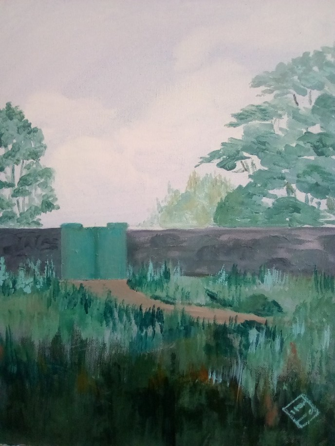 """The Green Gate"" (acrylic), NFS"