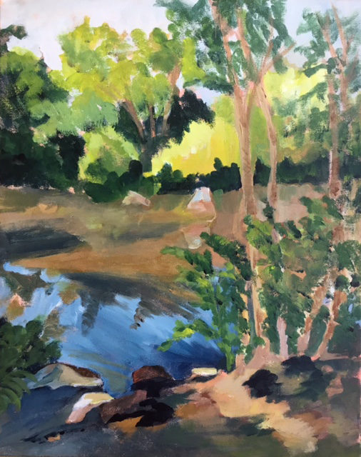 """The Pond at Swan Point"" (acrylic), NFS"