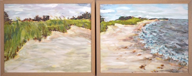 """Weekapaug"" (acrylic diptych) - SOLD"
