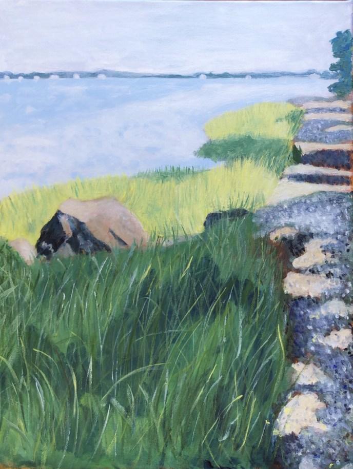 Goddard Park Walk (acrylic on canvas, 16x20) - NFS