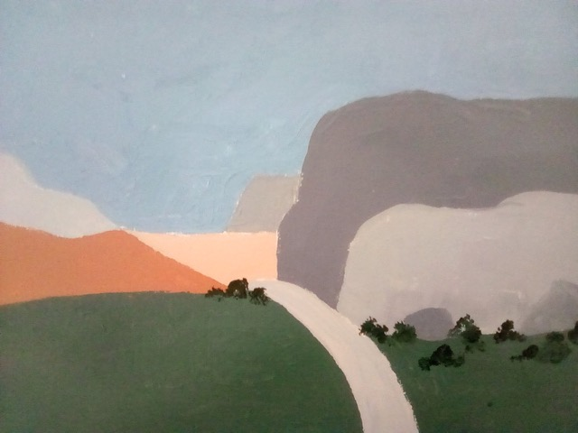 """Patricia Bisshopp """"The Bluffs"""" (acrylic), NFS"""