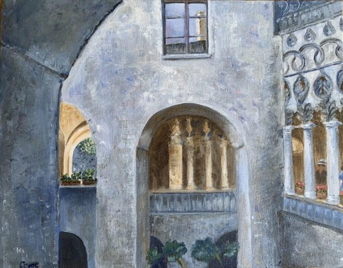 Villa Rufolo (acrylic, 14x18) - NFS