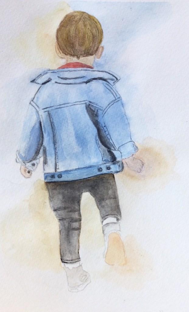 Little Boy (watercolor, 8x10) - NFS