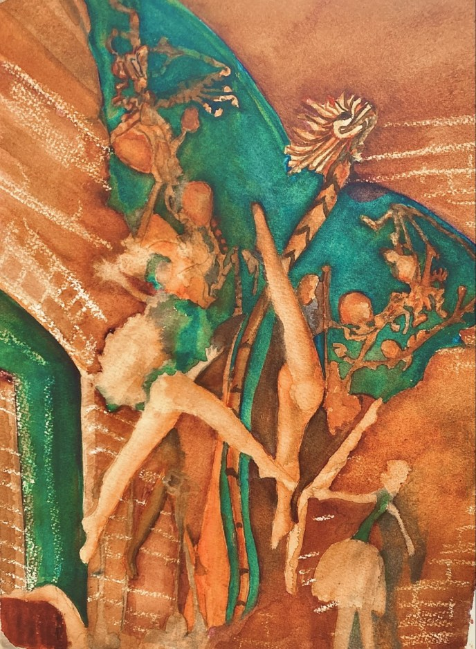Interior (watercolor, 10x14) - NFS