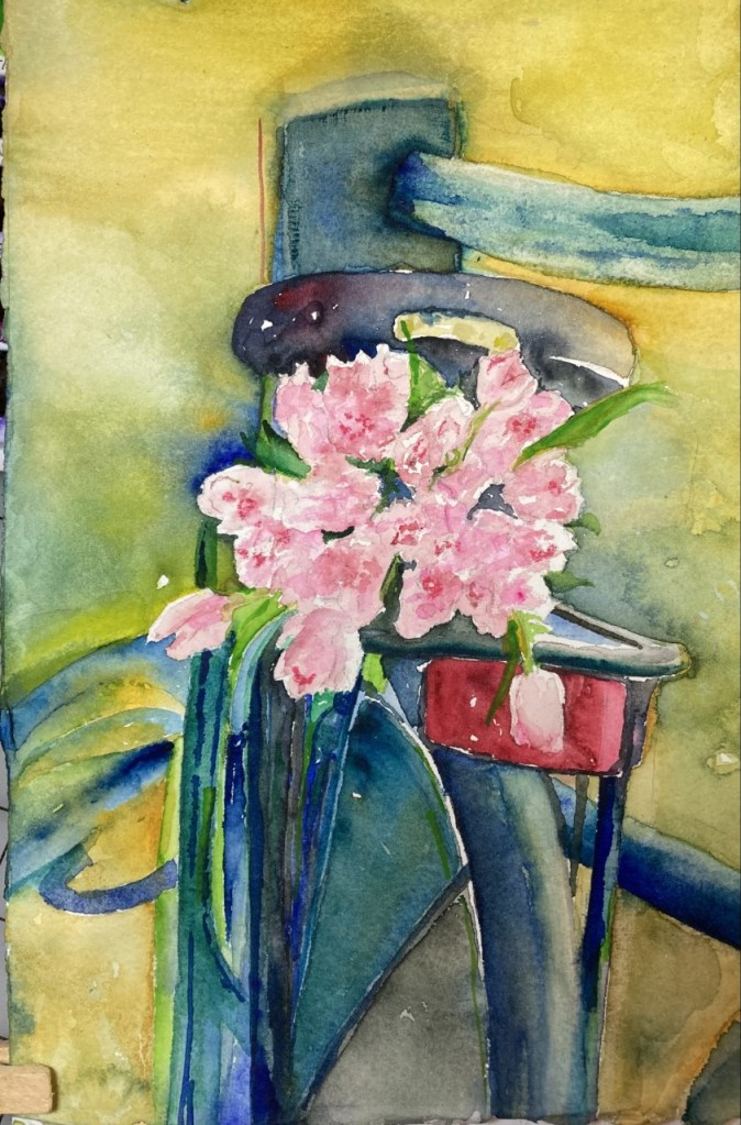 Celebration (watercolor, 12x14) - NFS