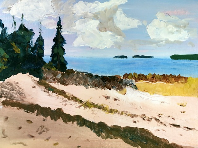 "Kathy Webster ""Islesboro Beach, South End"" (acrylic), Neg"