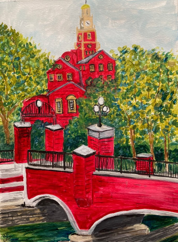 """Bridge to Justice"" (watercolor) - NFS"
