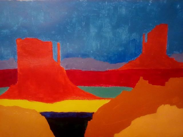 "Patricia Bisshopp ""The Mittens"" (acrylic), Neg"