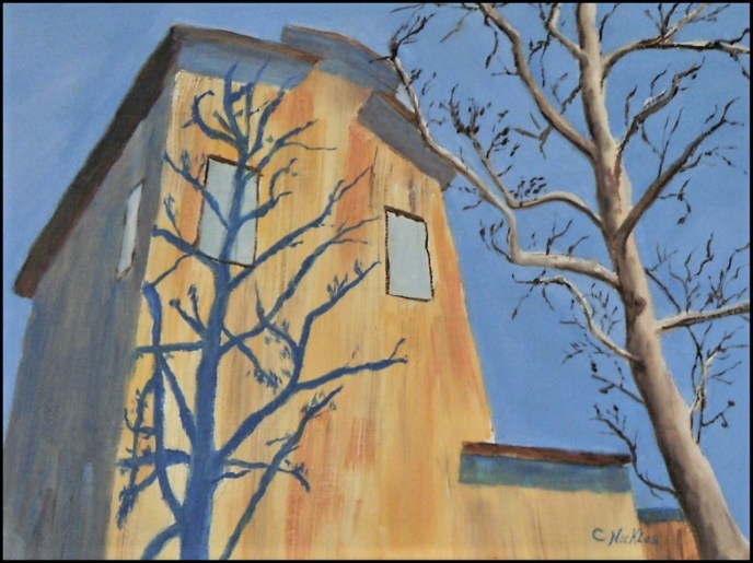 Shadow of a Tree (oil on canvas panel, 9x12) - $60