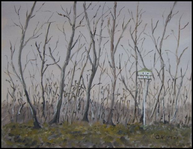 "Chuck Nickles ""Backyard in Winter"" (oil), Neg"