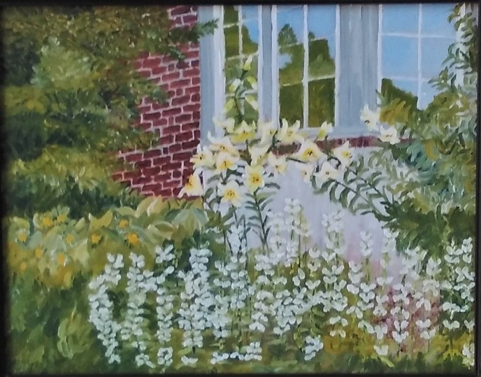 Lilies by the Window (oil on panel), 11 x 14 - NFS