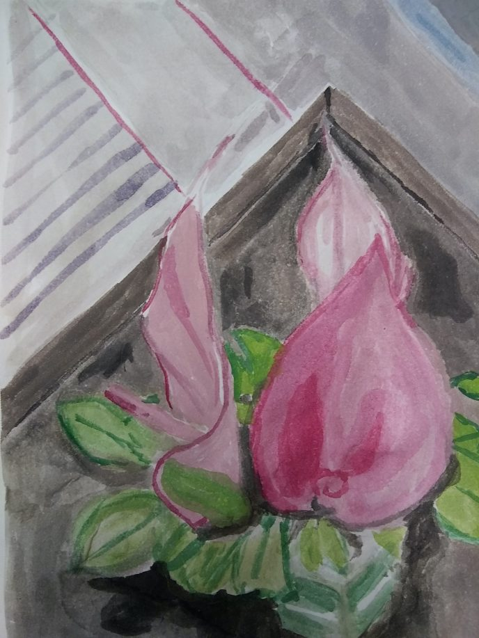 """Flower on a Table"" (watercolor), NFS"