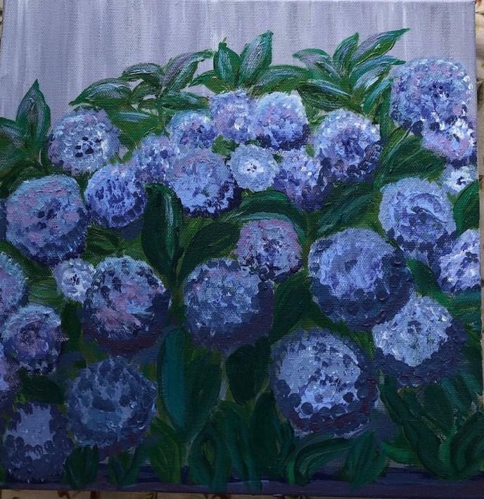 """Hydrangeas"" (acrylic) - NFS"