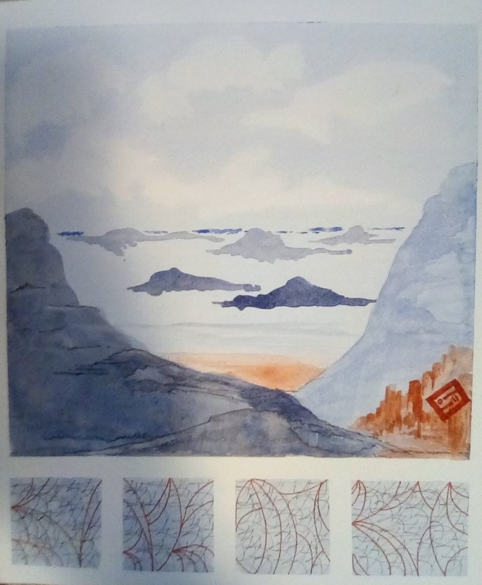 """""""Winter Sea"""" (watercolor, India ink), NFS"""