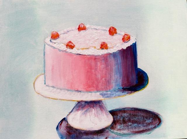 "Kathy Webster ""Pink Cake"" (acrylic), Neg"