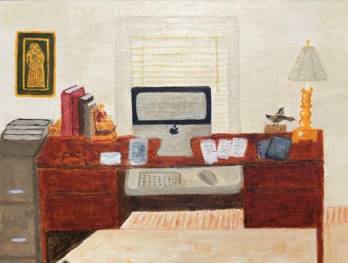 Home Office (acrylic on canvas board, 9x12) - NFS